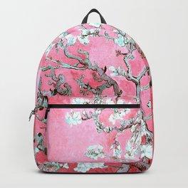 Van Gogh Almond Blossoms : Pink & Aqua Backpack