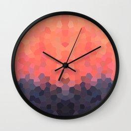 Geometric Abstract Mountain Sunset Wall Clock