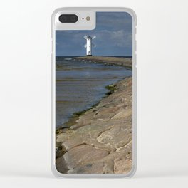 White windmill Clear iPhone Case