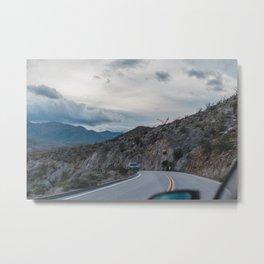 Moody Drive down the Winding Mountain Roads in California Metal Print