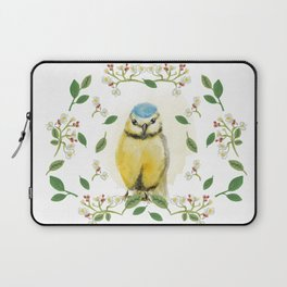 Blue Tit - Bird Watercolor Laptop Sleeve