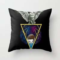 mirror Throw Pillows featuring Mirror by Valerio Marino