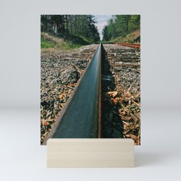 Railway to the unknown Mini Art Print