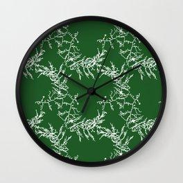 Green Seaweed Pattern Wall Clock