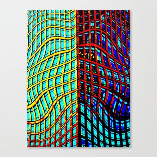 Collapsing Skyscraper Canvas Print