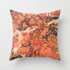 Marble Pink Square # 1 Throw Pillow