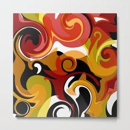Molten Lava Swirls Metal Print