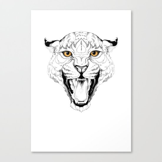 Leopard (black stroke version for t-shirts) Canvas Print