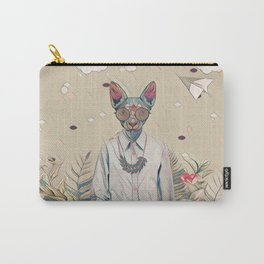Floral cat Carry-All Pouch