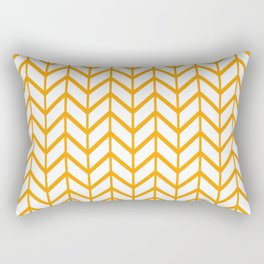 Winter 2018 Color: Son of a Sun in Chevron Rectangular Pillow