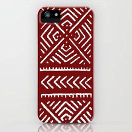 Line Mud Cloth // Maroon iPhone Case