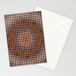 Wooden Circular Wood Weave Pattern Stationery Cards