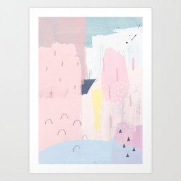 03 Abstract 104 - Yellow Art Print