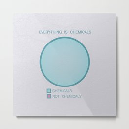 Everything is Chemicals Metal Print