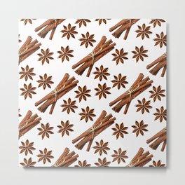 Cinnamon sticks and star anise. Metal Print
