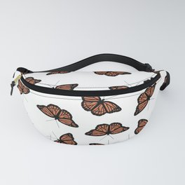Orange Monarch Butterfly Symbol Change Transition Growth Let Go Logo Quote Fanny Pack