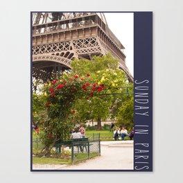 Photo: Sunday in Paris (2 June 13) Canvas Print