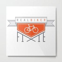 Real Biker Metal Print