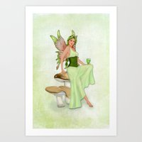 Absinthe the Green Fairy Art Print