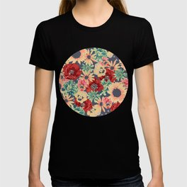 SEPIA FLOWERS -poppies, pansies & sunflowers- T-shirt