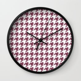 Purple, Mulberry: Houndstooth Pattern Wall Clock