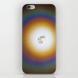 Full moon halo iPhone Skin