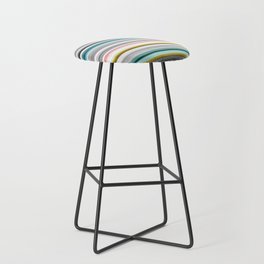 grey and colored stripes Bar Stool