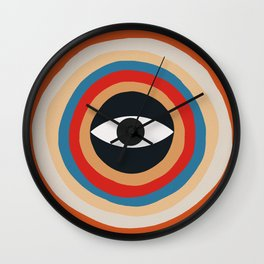 Third Eye Retro Colors Circle Wall Clock