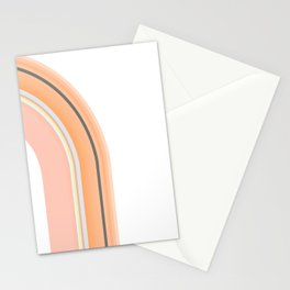 ombre rainbow Stationery Cards