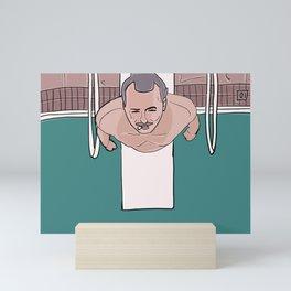 Herman Blume (Bill Murray) on Diving Board (Rushmore) Mini Art Print
