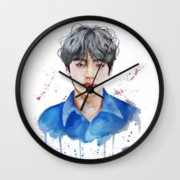Taehyung watercolor Wall Clock