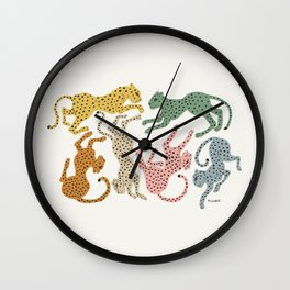Rainbow Cheetah Wall Clock
