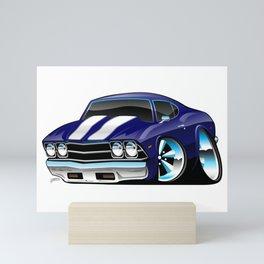 Classic American Muscle Car Cartoon Mini Art Print