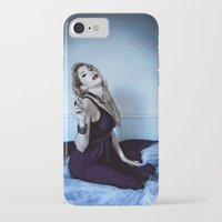 megan lara iPhone & iPod Cases featuring Lara by Lídia Vives