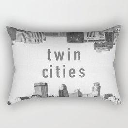 Twin Cities Minneapolis and Saint Paul Minnesota Skylines Rectangular Pillow