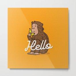 Hello Monkey Metal Print