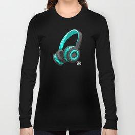 Blue and black headset Long Sleeve T-shirt