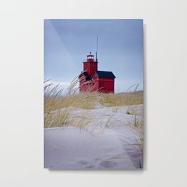 The Lighthouse Big Red in Holland Michigan Metal Print