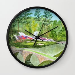 Augusta National Golf Course 12th Hole Wall Clock