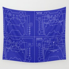 Construction of game console Wall Tapestry