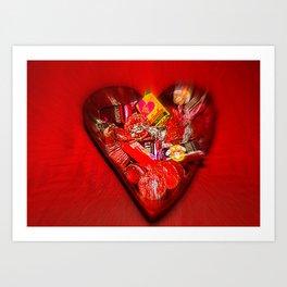 Heart Of Chocolate Art Print