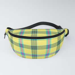 lemon love plaid with a dash of pink and blue Fanny Pack