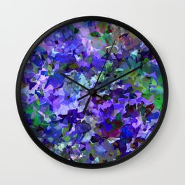 Deep Violet Woods Wall Clock