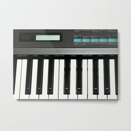 Keyboard Metal Print
