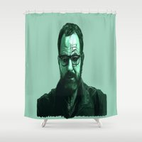 breaking bad Shower Curtains featuring Breaking Bad by Susan Lewis