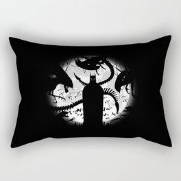 Bat and The Alien Rectangular Pillow