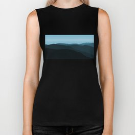 Blue Mountainscape Biker Tank