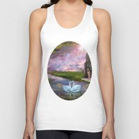 river song Tank Tops featuring Moon River by Susie Hawkins