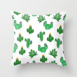Succulent shindig Throw Pillow