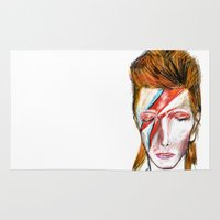bowie Area & Throw Rugs featuring Bowie by James Peart